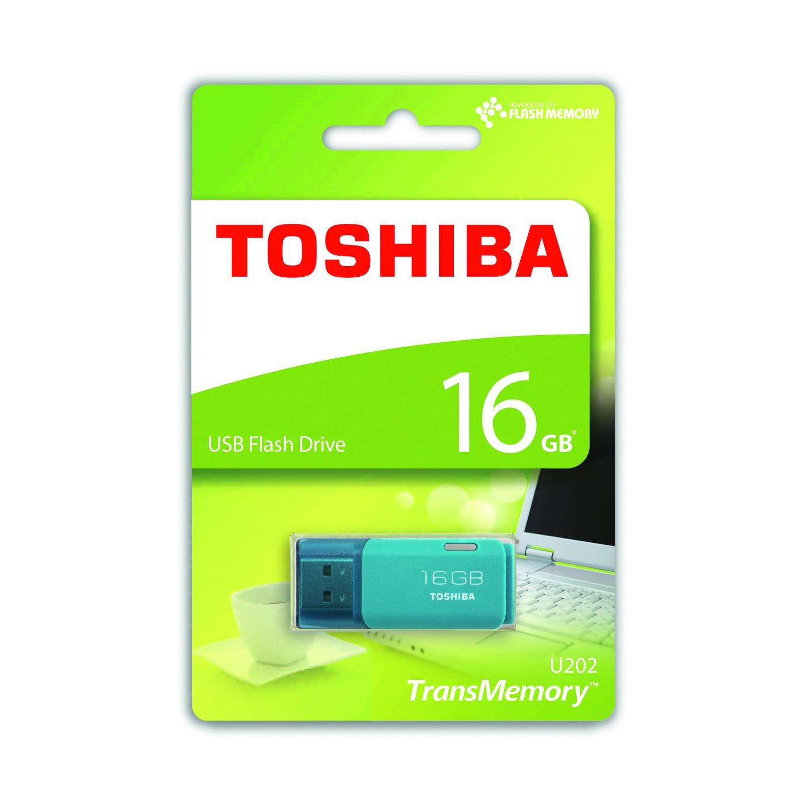 USB флеш накопитель Toshiba 16GB Hayabusa Aqua USB 2.0 (THN-U202L0160E4) изображение 3
