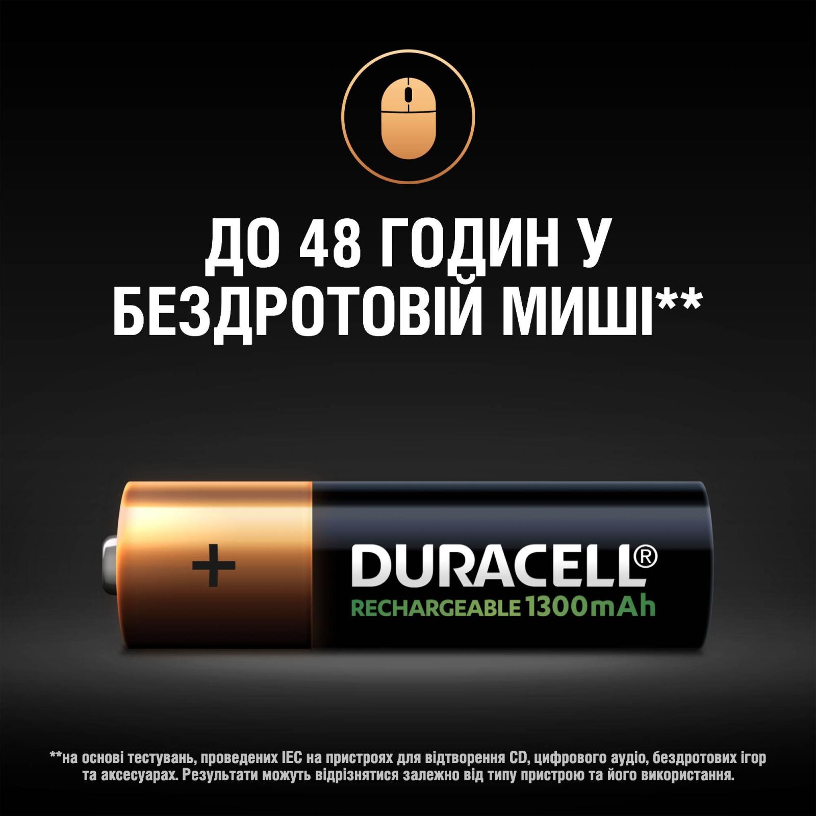Аккумулятор Duracell AA HR6 1300mAh * 2 (81367175) изображение 6