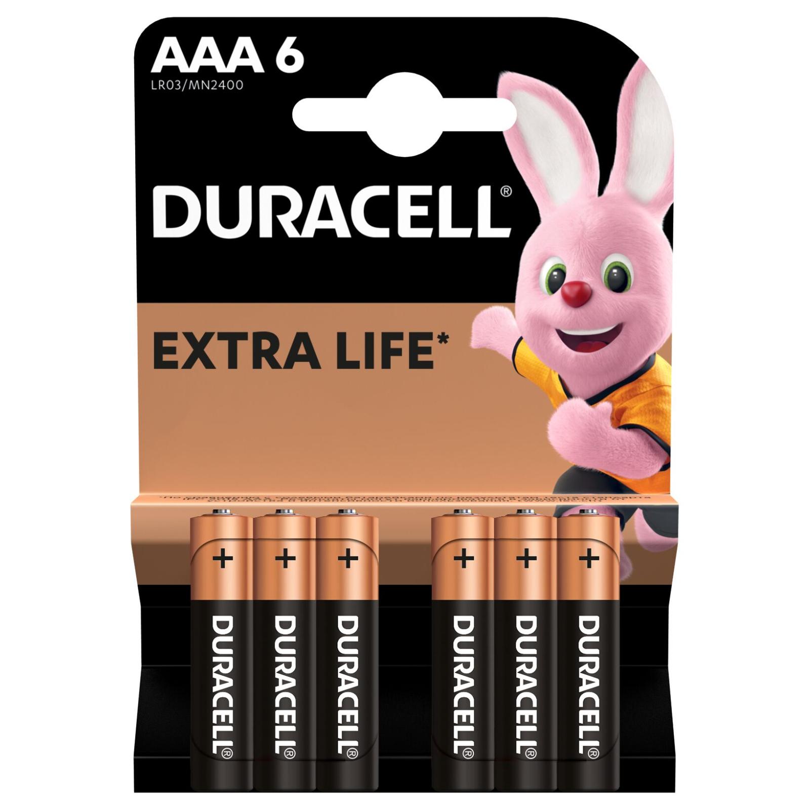 Батарейка Duracell AAA MN2400 LR03 * 6 (5000394107472 / 81483511) изображение 2