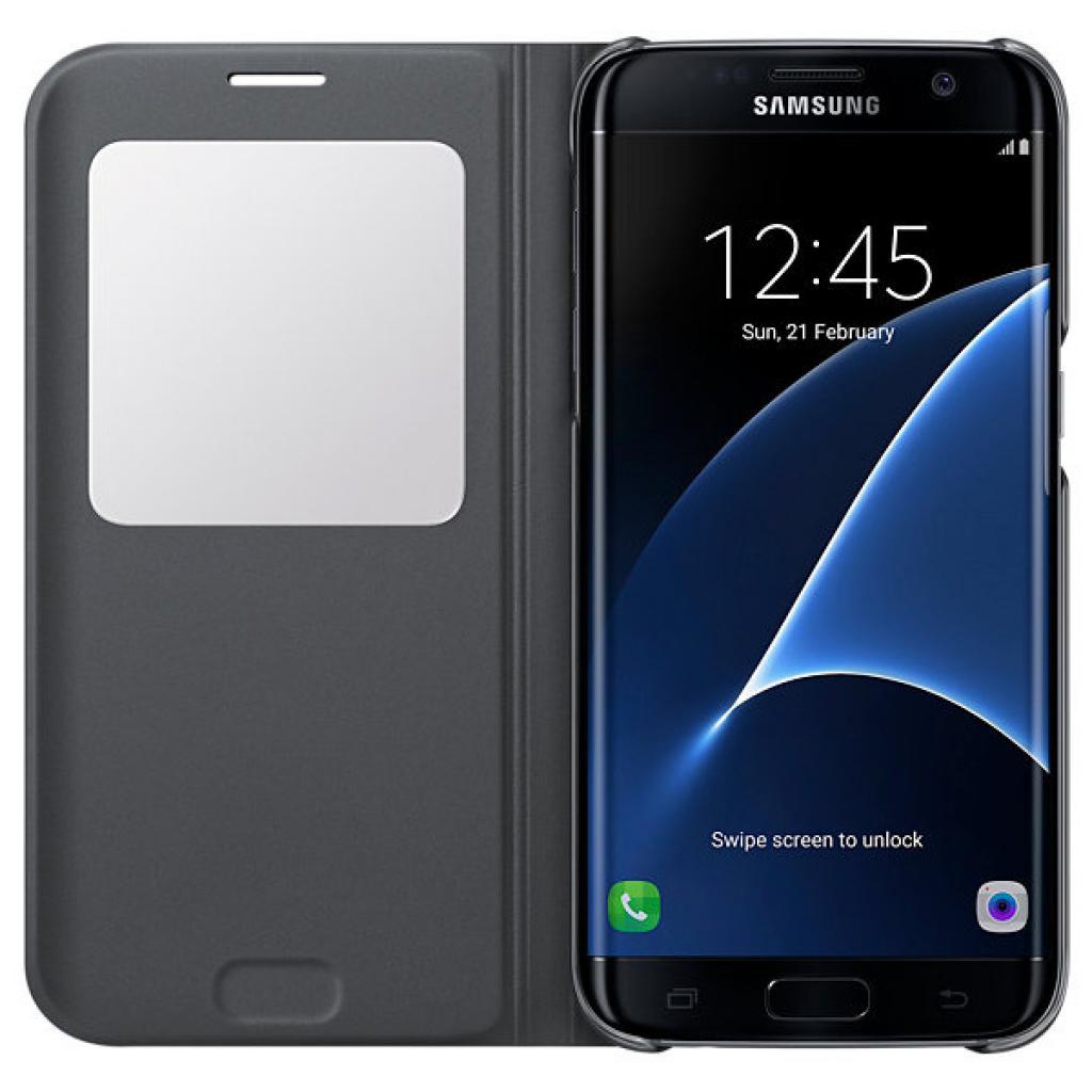 Чехол для моб. телефона Samsung Galaxy S7/Black/View Cover (EF-CG935PBEGRU) изображение 4