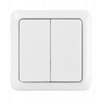 Кнопка управления беспроводными выключателями Trust AWST-8802 Double wireless wall switch (71012)
