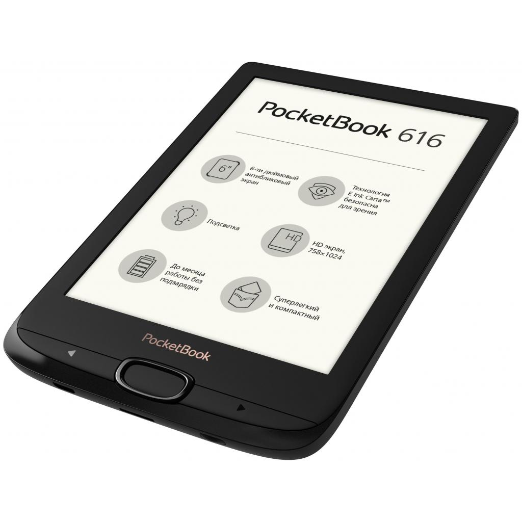 Электронная книга PocketBook 616 Basic Lux2, Obsidian Black (PB616-H-CIS) изображение 5