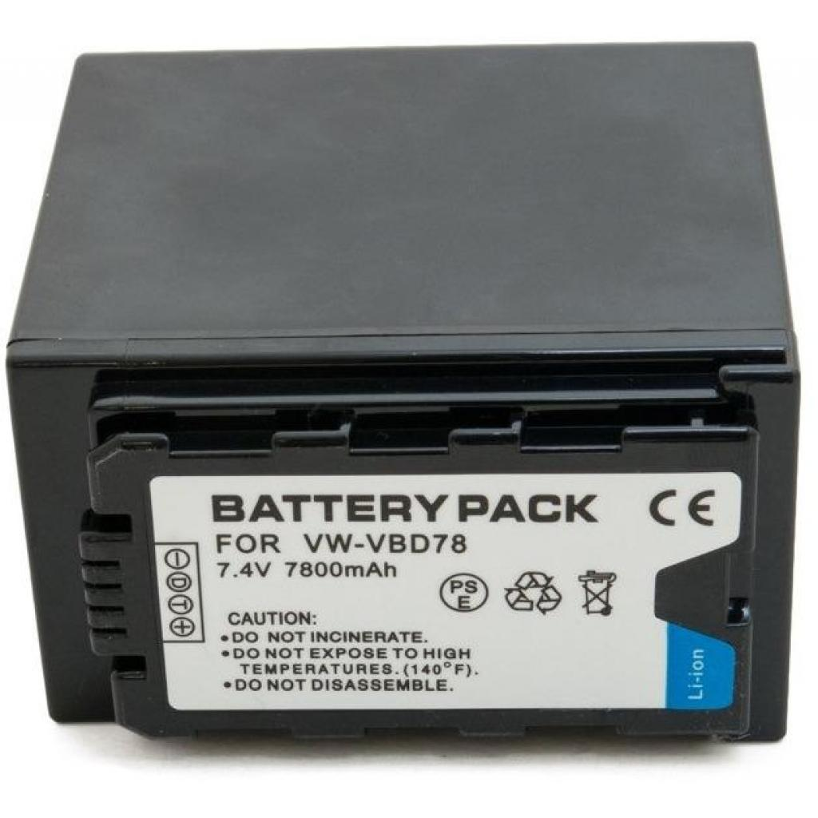 Аккумулятор к фото/видео EXTRADIGITAL Panasonic VW-VBD78, Li-ion, 7.4V, 7800mAh (BDP2694) изображение 3