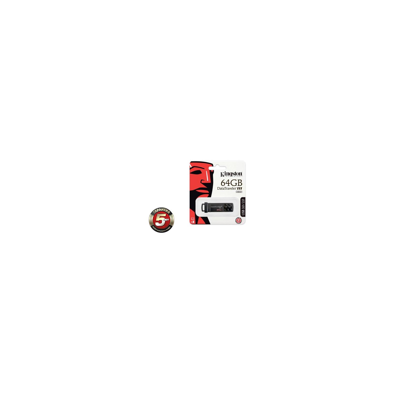 USB флеш накопитель Kingston 64Gb DataTraveler DT111 Black (DT111/64GB) изображение 3