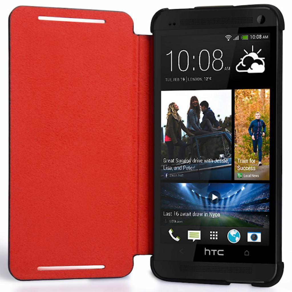 Чехол для моб. телефона HTC One Dual Sim(HC J841 Black-Red) (99H11325-00) изображение 4