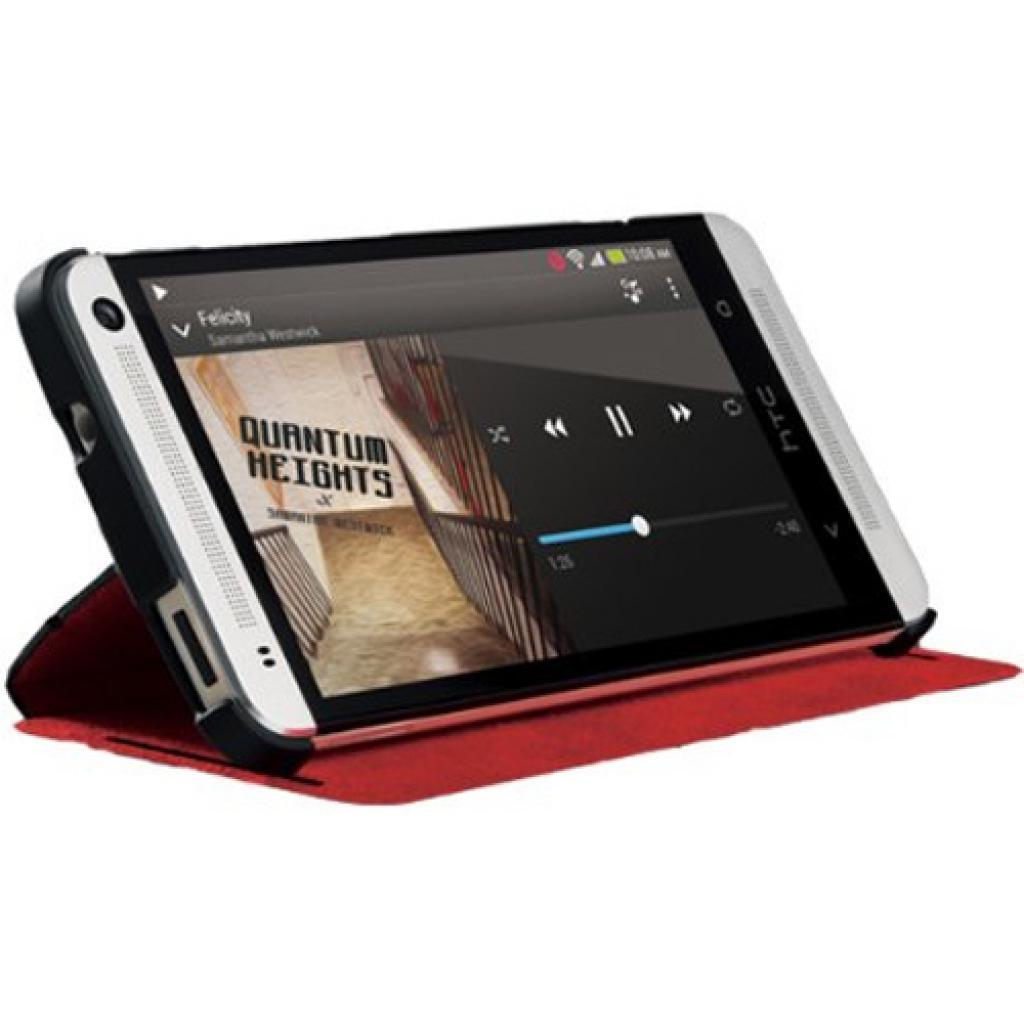Чехол для моб. телефона HTC One Dual Sim(HC J841 Black-Red) (99H11325-00) изображение 7