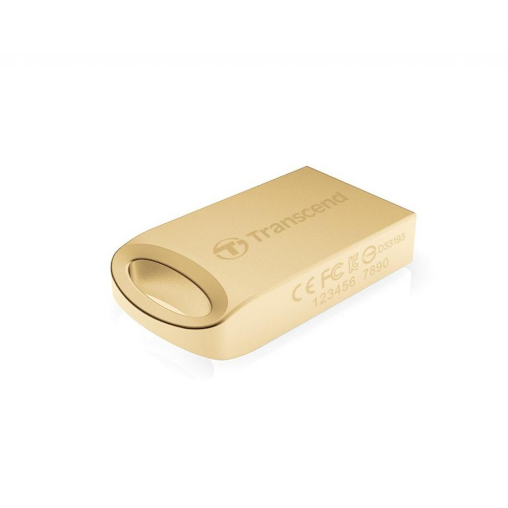USB флеш накопитель Transcend JetFlash 510, Gold Plating (TS8GJF510G) изображение 3