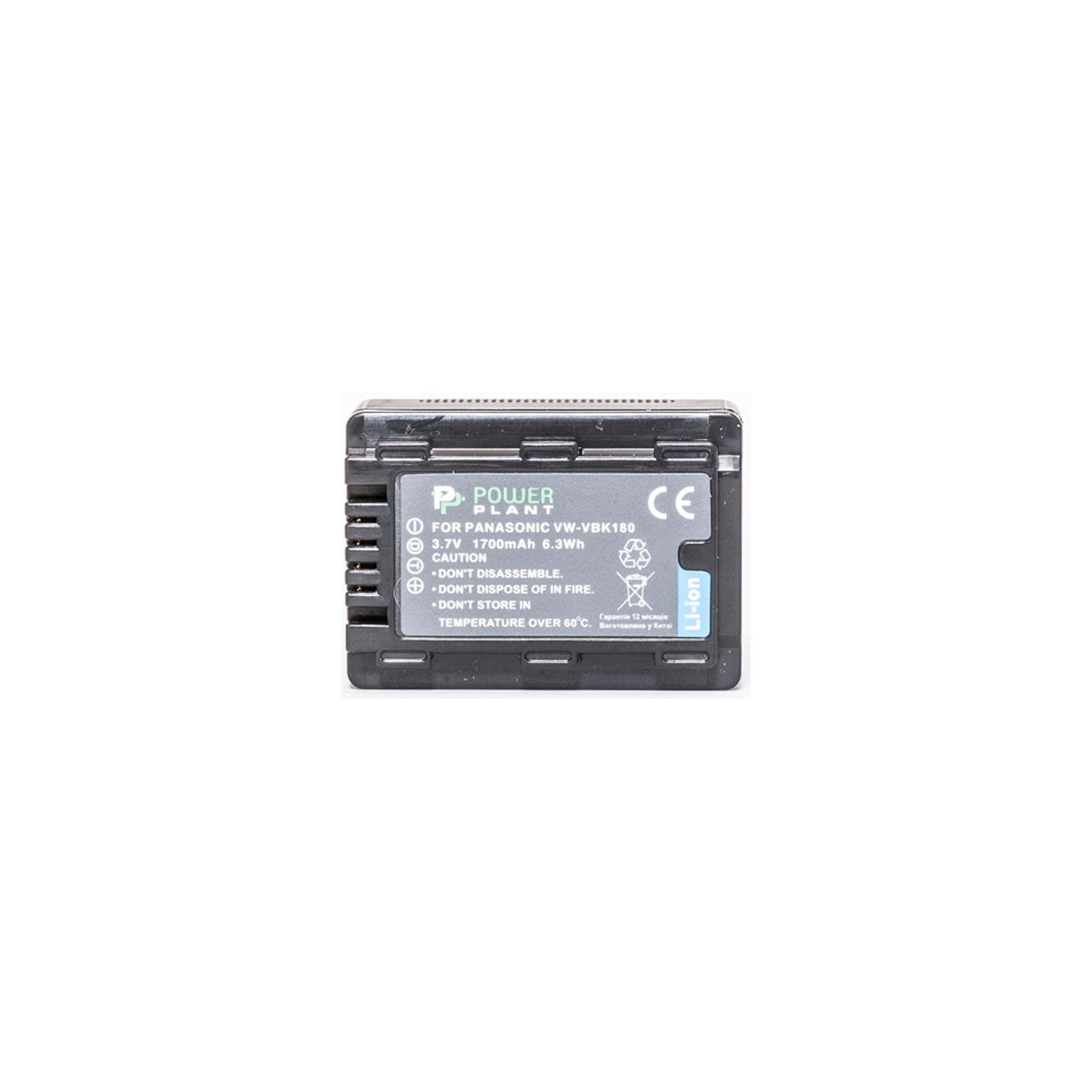 Аккумулятор к фото/видео PowerPlant Panasonic VW-VBK180 (DV00DV1291) изображение 2