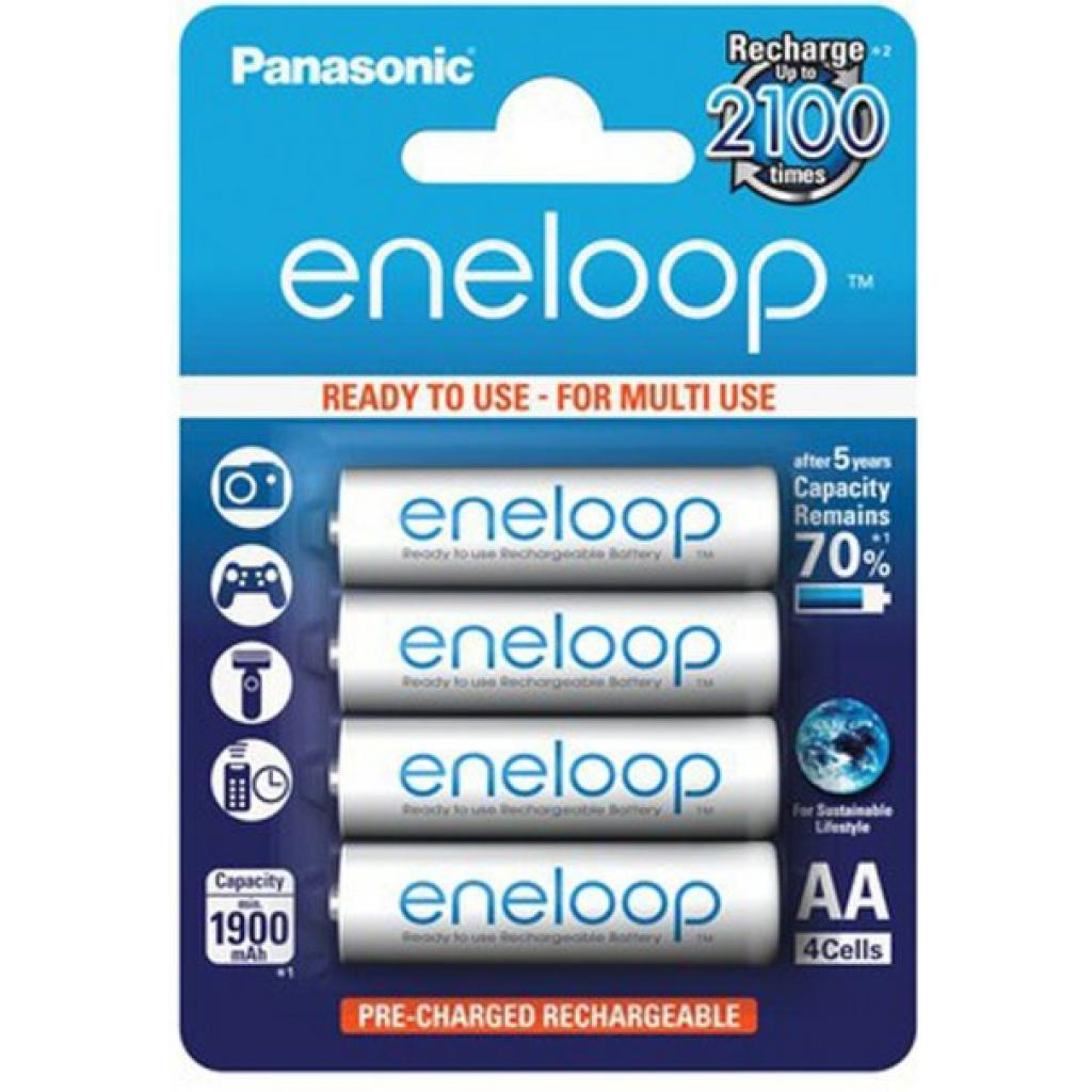 Акумулятор Panasonic Eneloop 1900mAh NI-MH * 4 (BK-3MCCE/4BE)