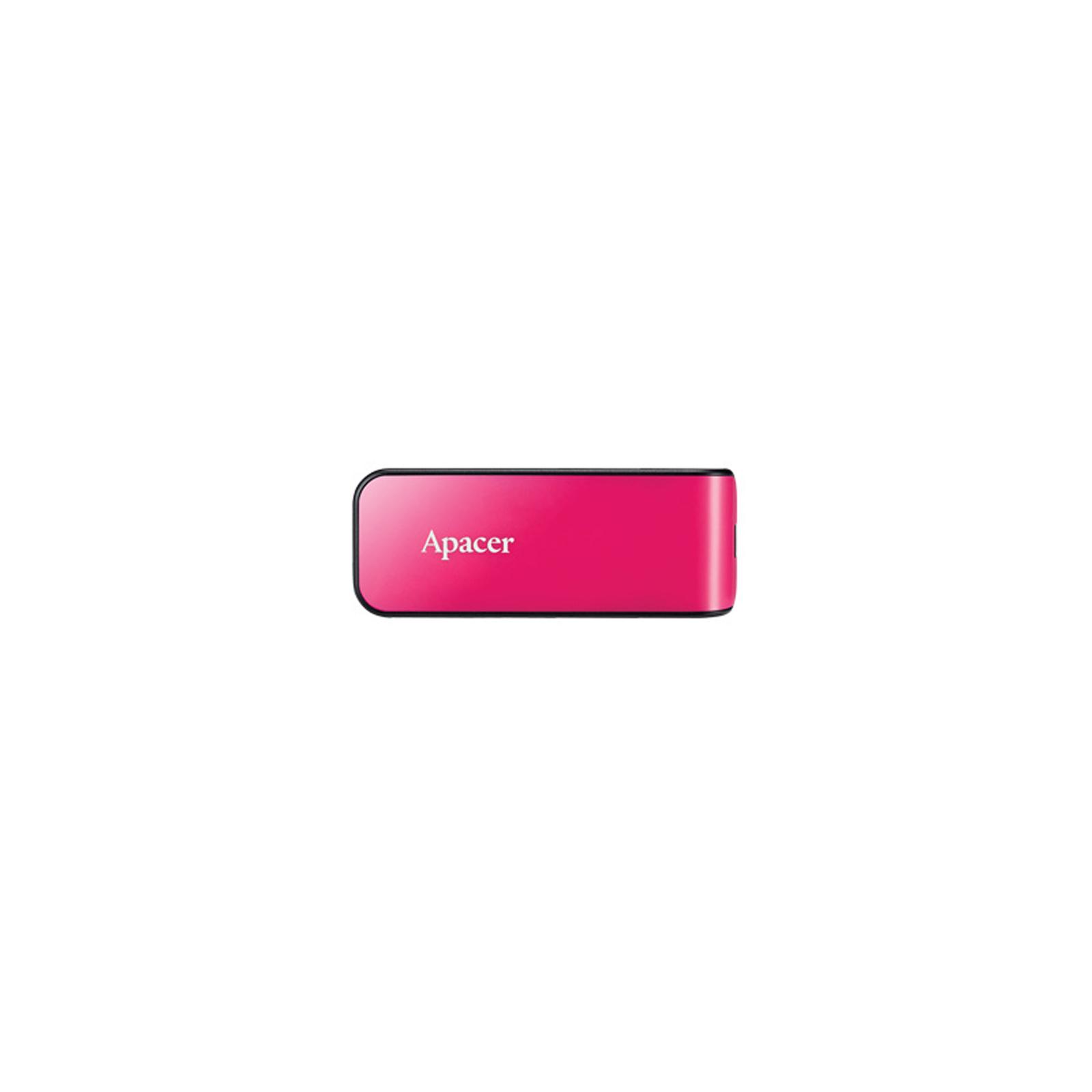 USB флеш накопитель Apacer 16GB AH334 pink USB 2.0 (AP16GAH334P-1)