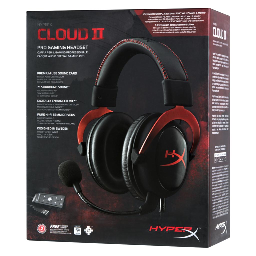 Навушники HyperX Cloud II Gaming Red (KHX-HSCP-RD) зображення 10
