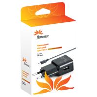 Зарядное устройство Florence USB, 1A + cable microUSB (TC10-MU)