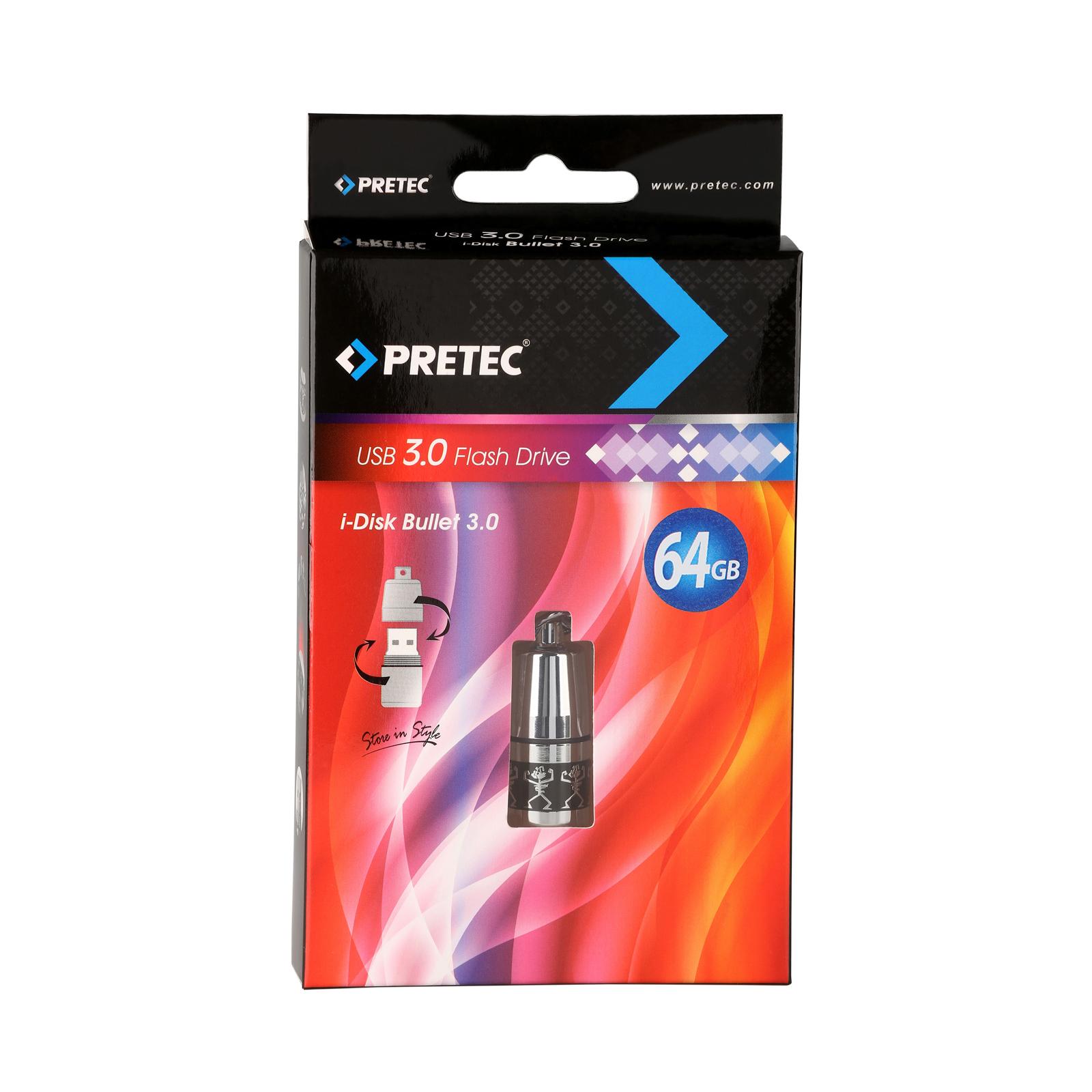USB флеш накопитель Pretec 64GB i-Disk Bullet USB 2.0 (B2U64G-M) изображение 3