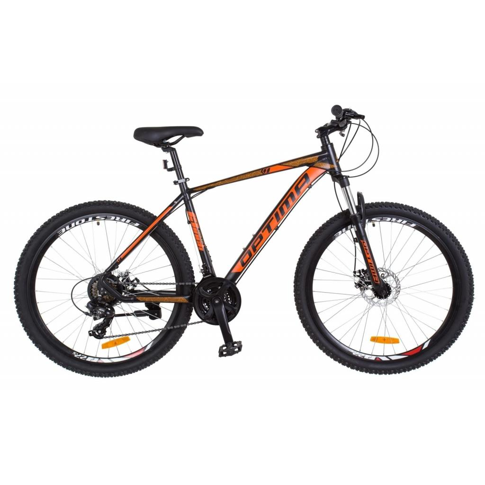 "Велосипед Optimabikes 26"" F-1 2018 AM 14G DD рама-17"" Al черно-оранжевый (OPS-OP-26-125)"