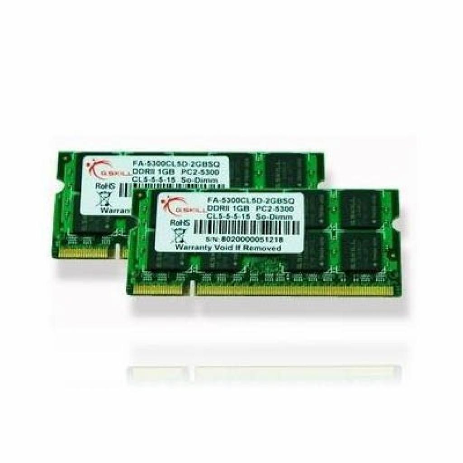 Модуль памяти для ноутбука SoDIMM DDR2 4GB (2x2GB) 667 MHz G.Skill (FA-5300CL5D-4GBSQ)