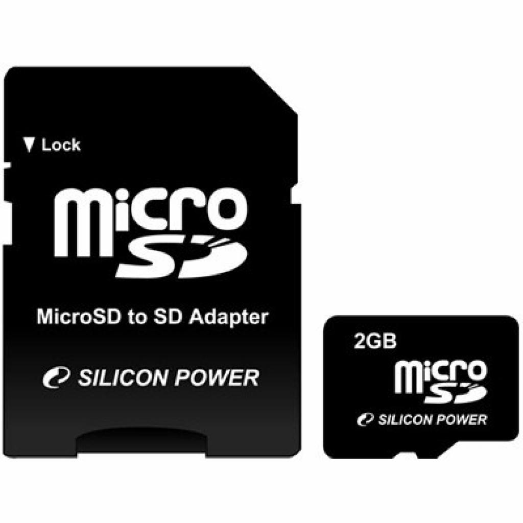 Карта памяти Silicon Power 2Gb microSD (SP002GBSDT000V10-SP)