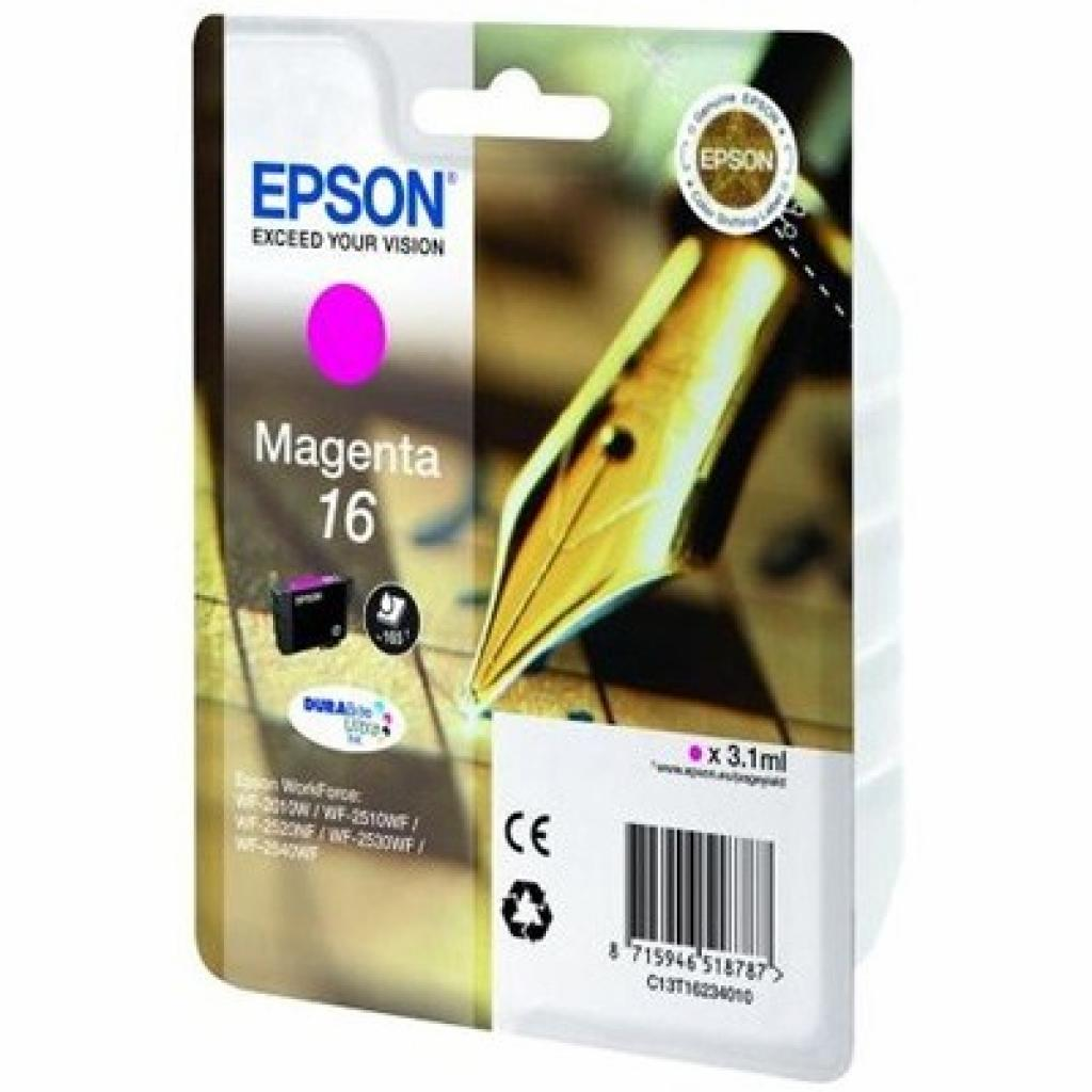Картридж EPSON 16 WF-2010 magenta (C13T16234010)