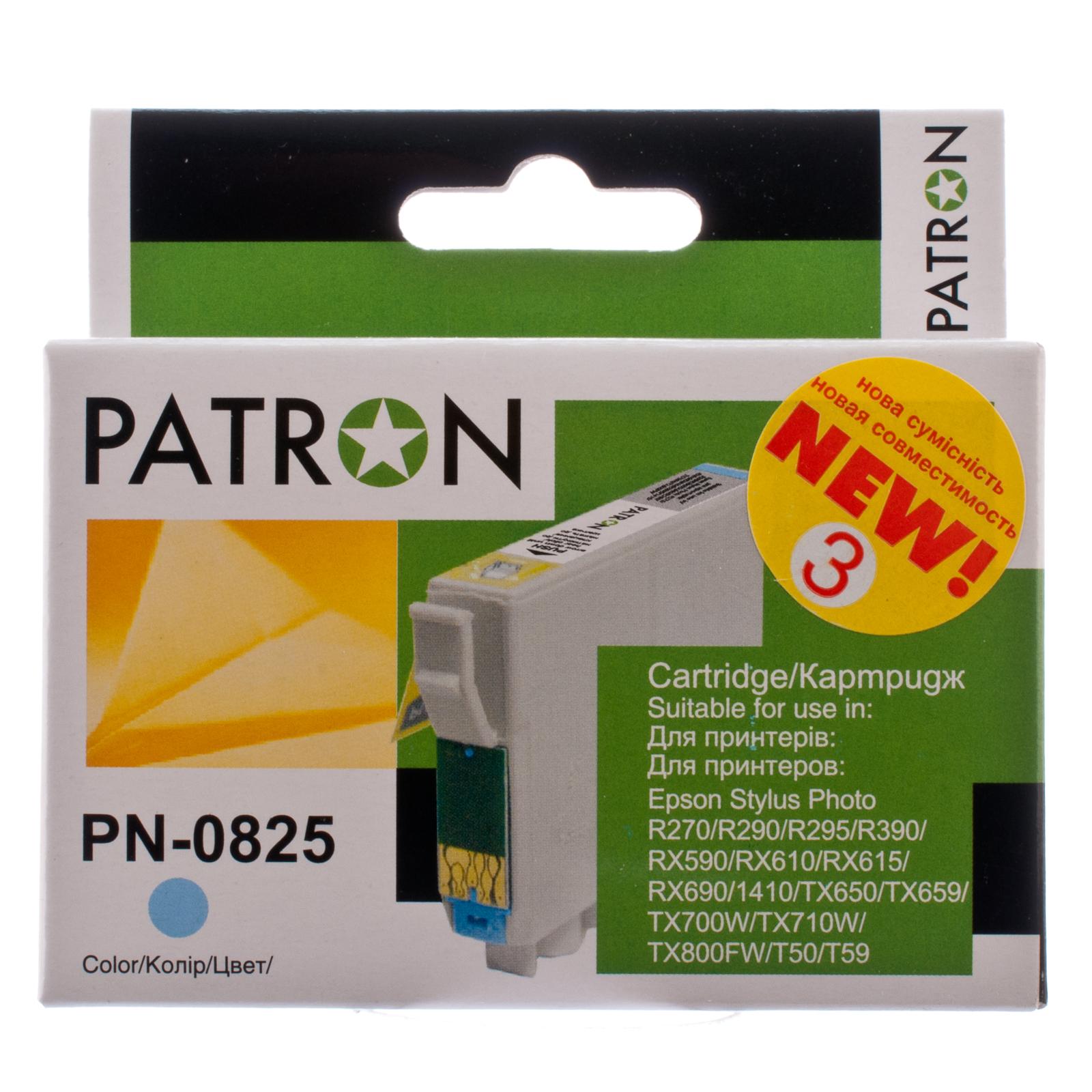 Картридж PATRON для EPSON R270/290/390/RX590 LIGHT CYAN (PN-0825) (CI-EPS-T08154-LC3-PN) изображение 2