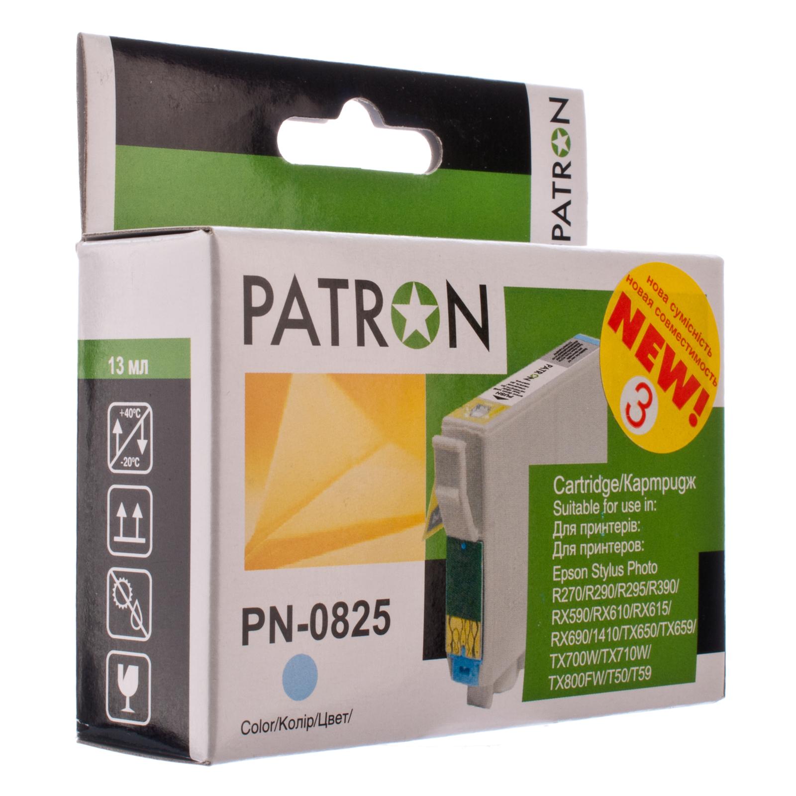 Картридж PATRON для EPSON R270/290/390/RX590 LIGHT CYAN (PN-0825) (CI-EPS-T08154-LC3-PN)