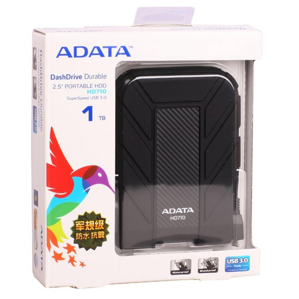 """Внешний жесткий диск 2.5"""" 1TB ADATA (AHD710-1TU3-CBK) изображение 2"""