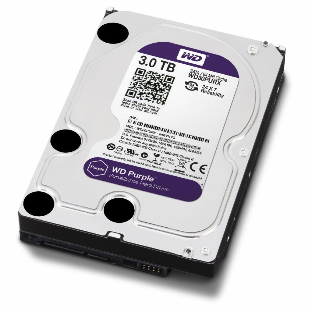 """Жесткий диск 3.5"""" 3TB Western Digital (WD30PURX) изображение 3"""