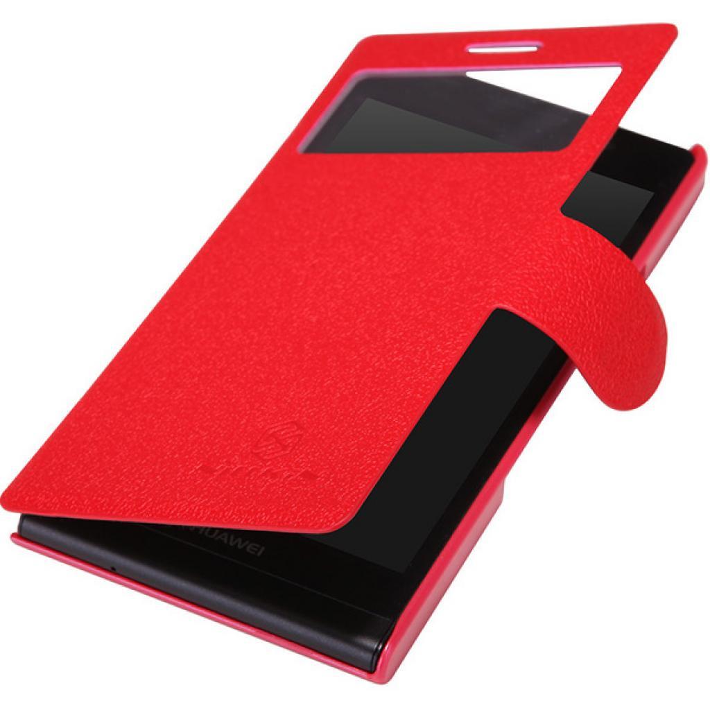 Чехол для моб. телефона NILLKIN для Huawei Ascend P6 /Fresh/ Leather/Red (6065687) изображение 2