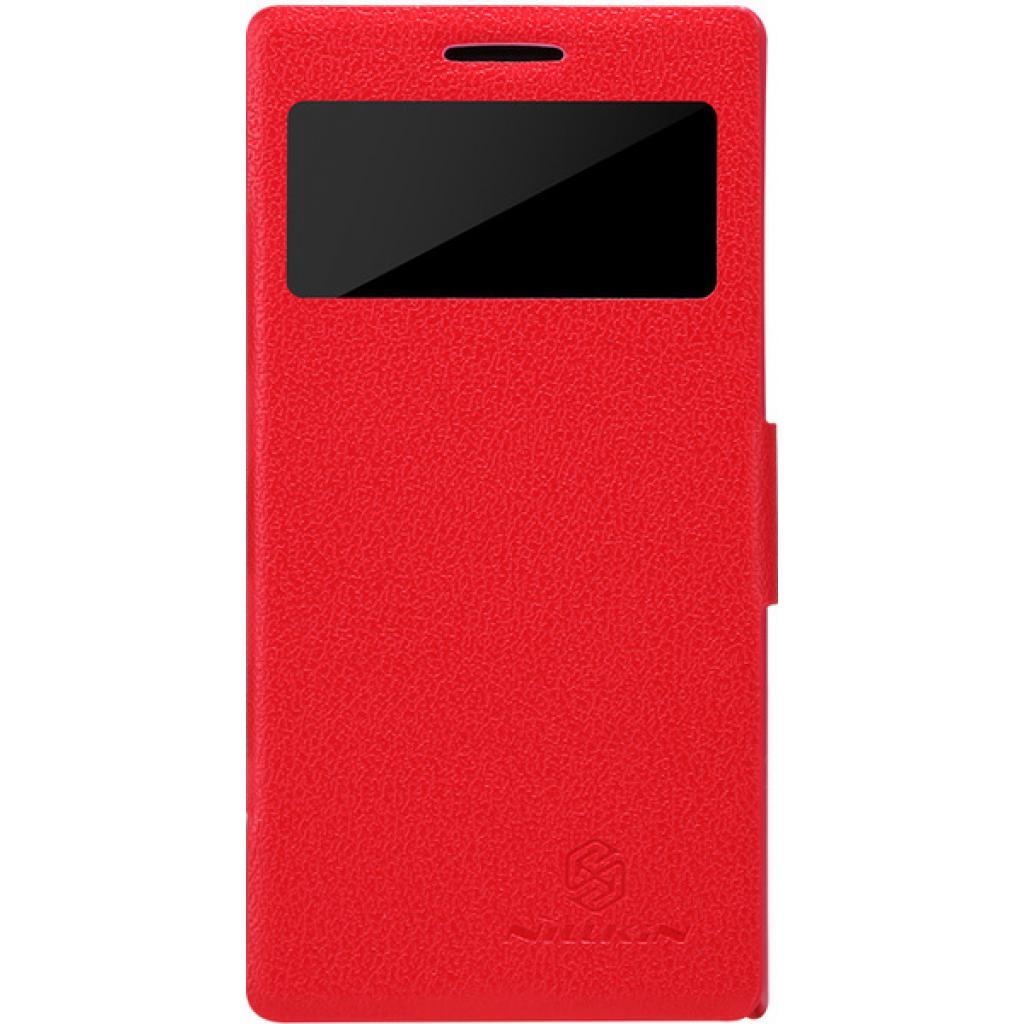 Чехол для моб. телефона NILLKIN для Huawei Ascend P6 /Fresh/ Leather/Red (6065687)