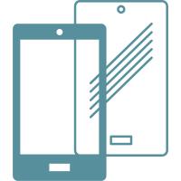 """Услуга для смартфона и планшета """"Наклеювання плівки універсал вище 10"""" """" BRAIN PRO"""