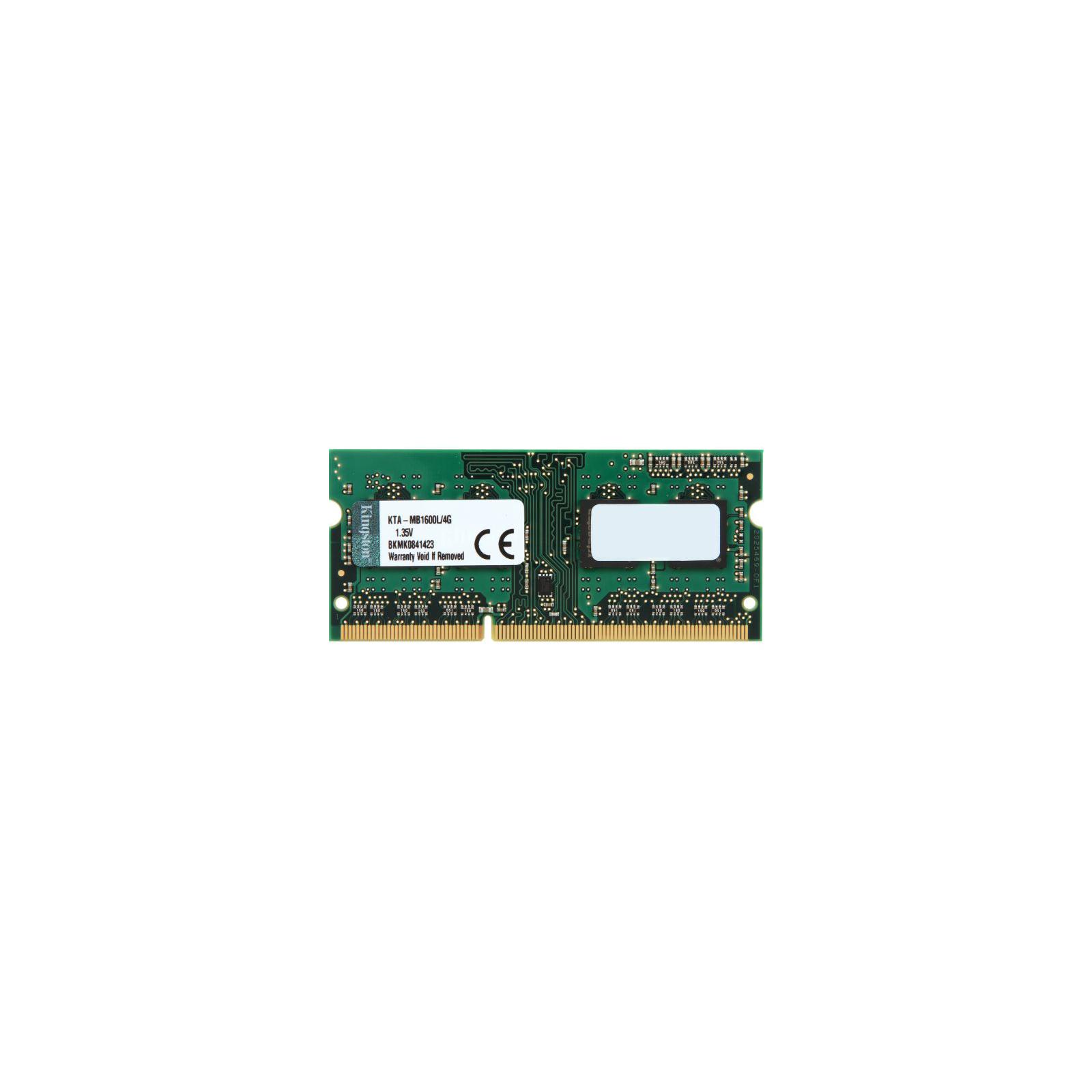 Модуль памяти для ноутбука SoDIMM DDR3 4GB 1600 MHz Kingston (KTA-MB1600L/4G)