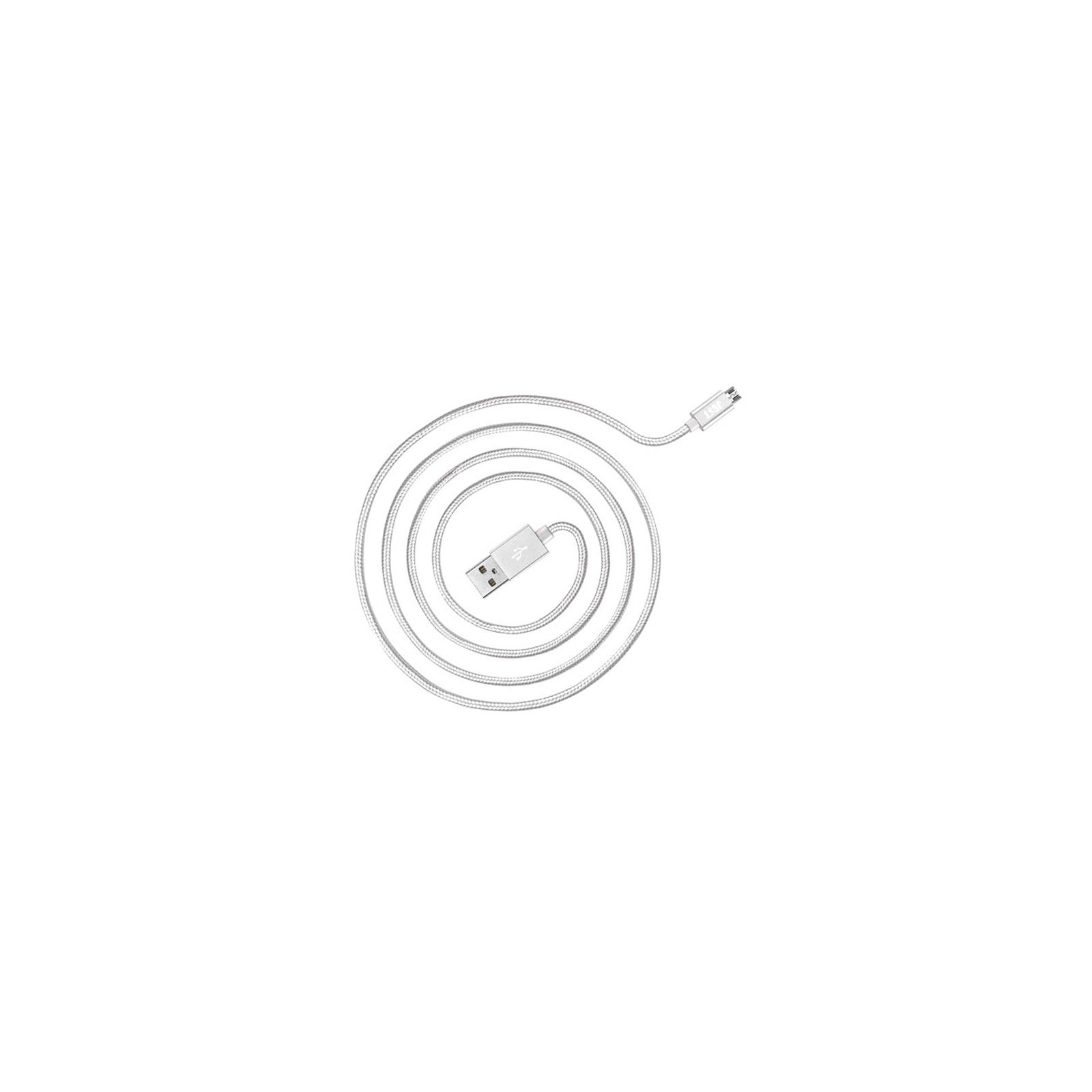 Дата кабель JUST Copper Micro USB Cable 0,5M Silver (MCR-CPR05-SLVR) изображение 2