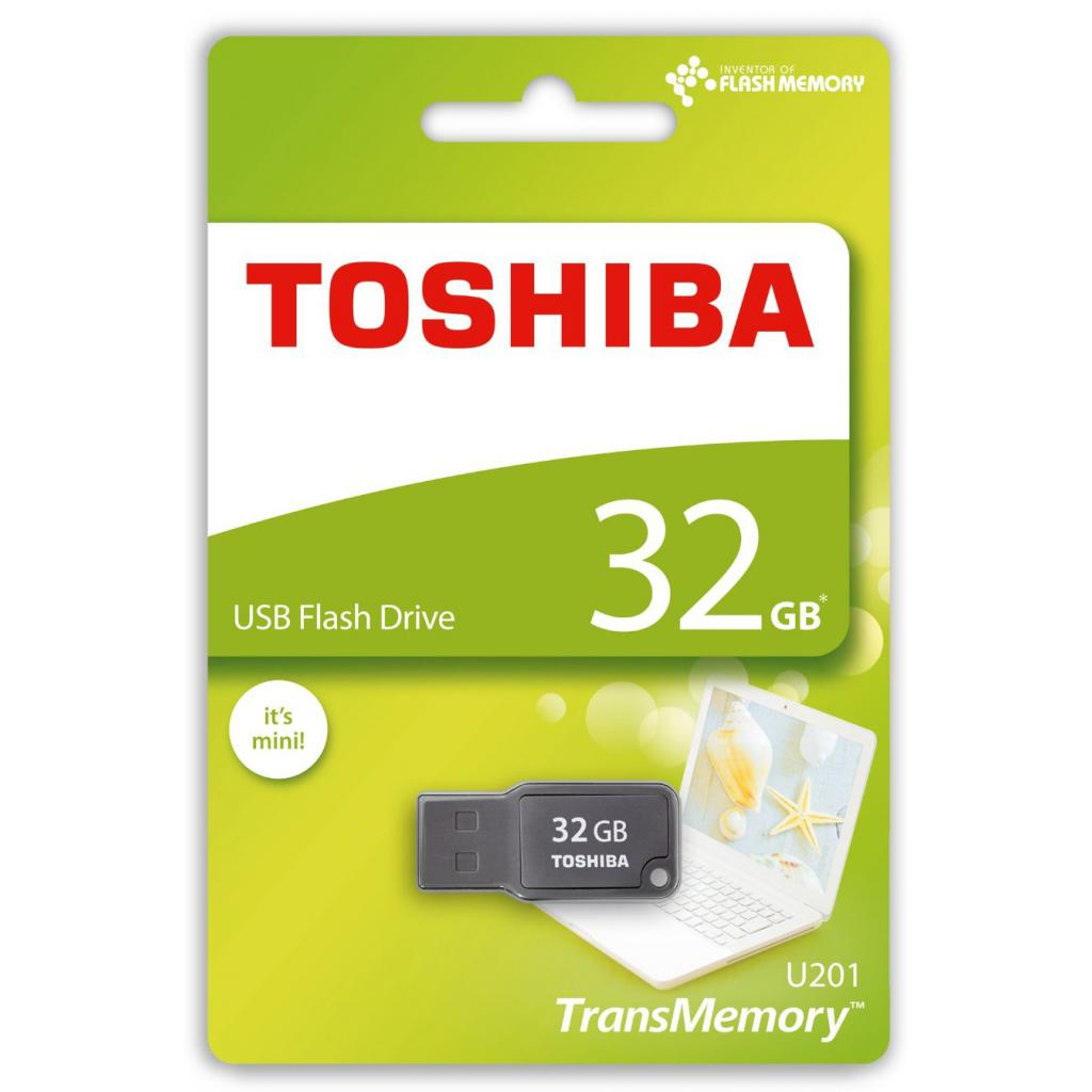 USB флеш накопитель TOSHIBA 32GB Mikawa Gray USB 2.0 (THN-U201G0320M4) изображение 2