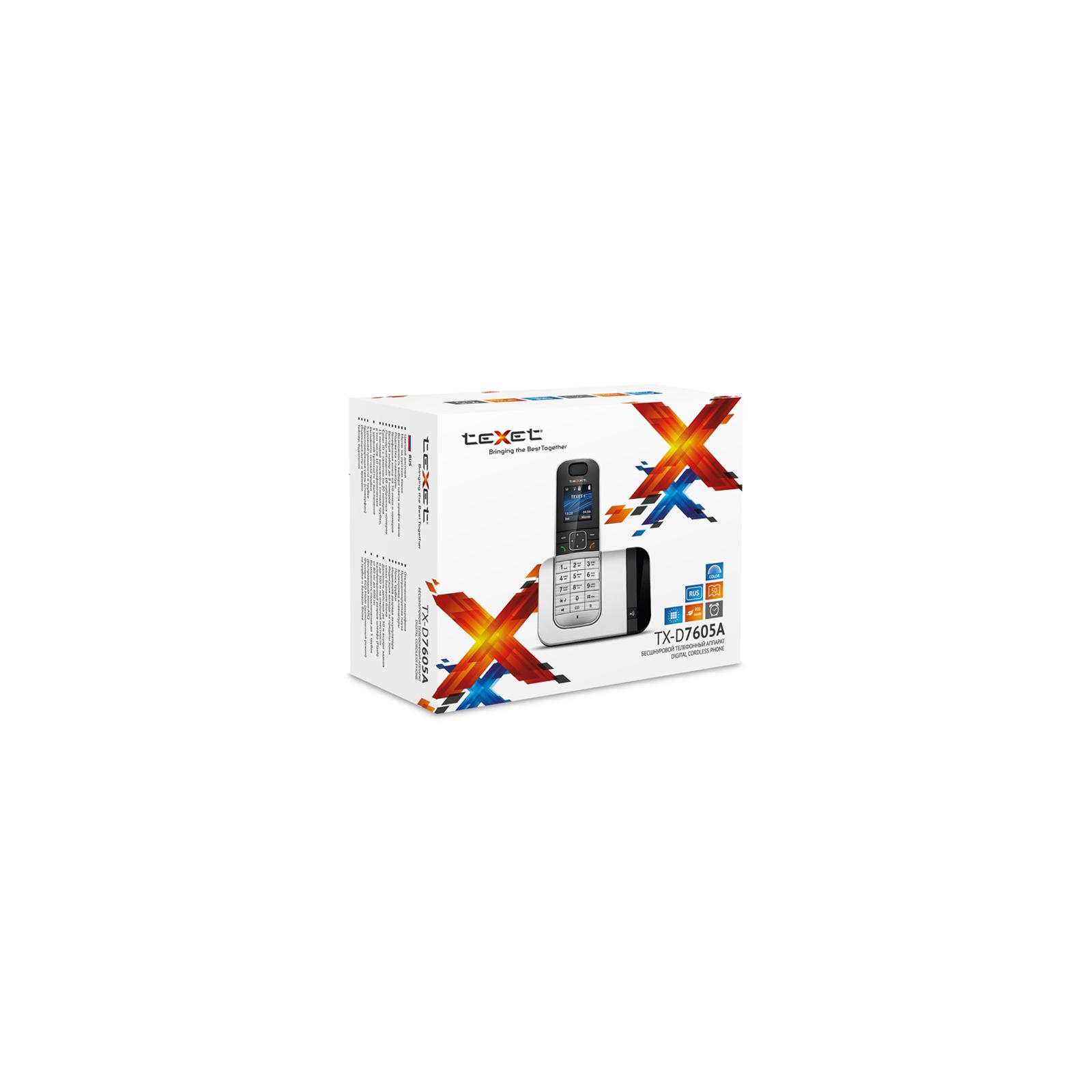 Телефон DECT TEXET TX-D7605A Black-Silver (TX-D7605A) изображение 3