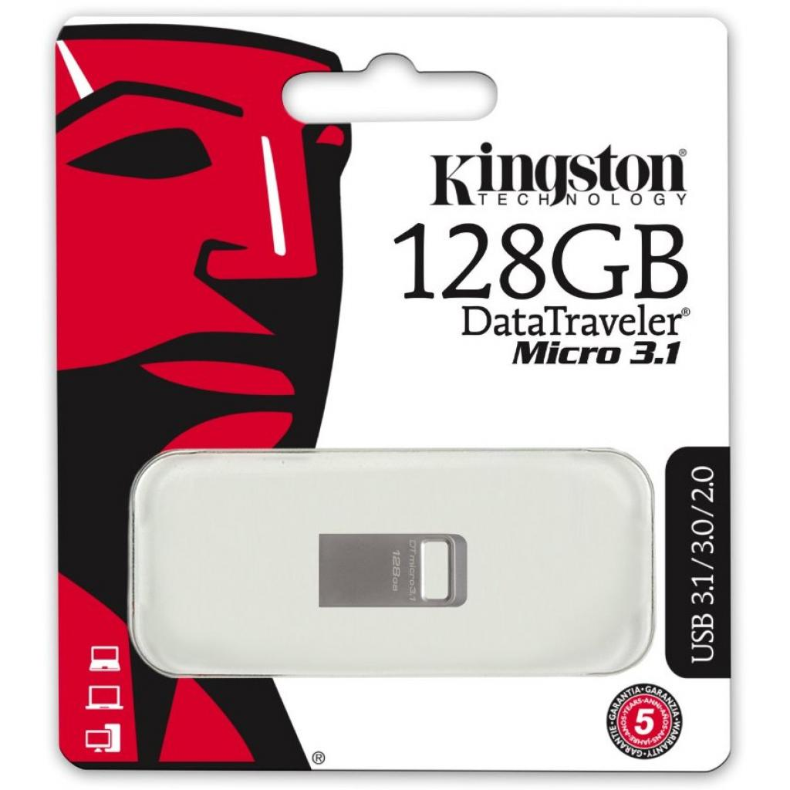 USB флеш накопитель Kingston 128GB DT Micro 3.1 USB 3.1 (DTMC3/128GB) изображение 4