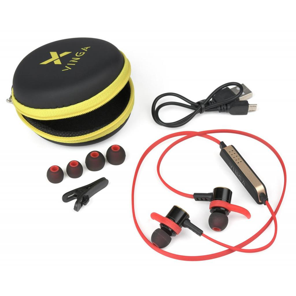 Навушники Vinga EBT050 Bluetooth Red (EBT050RD) зображення 5