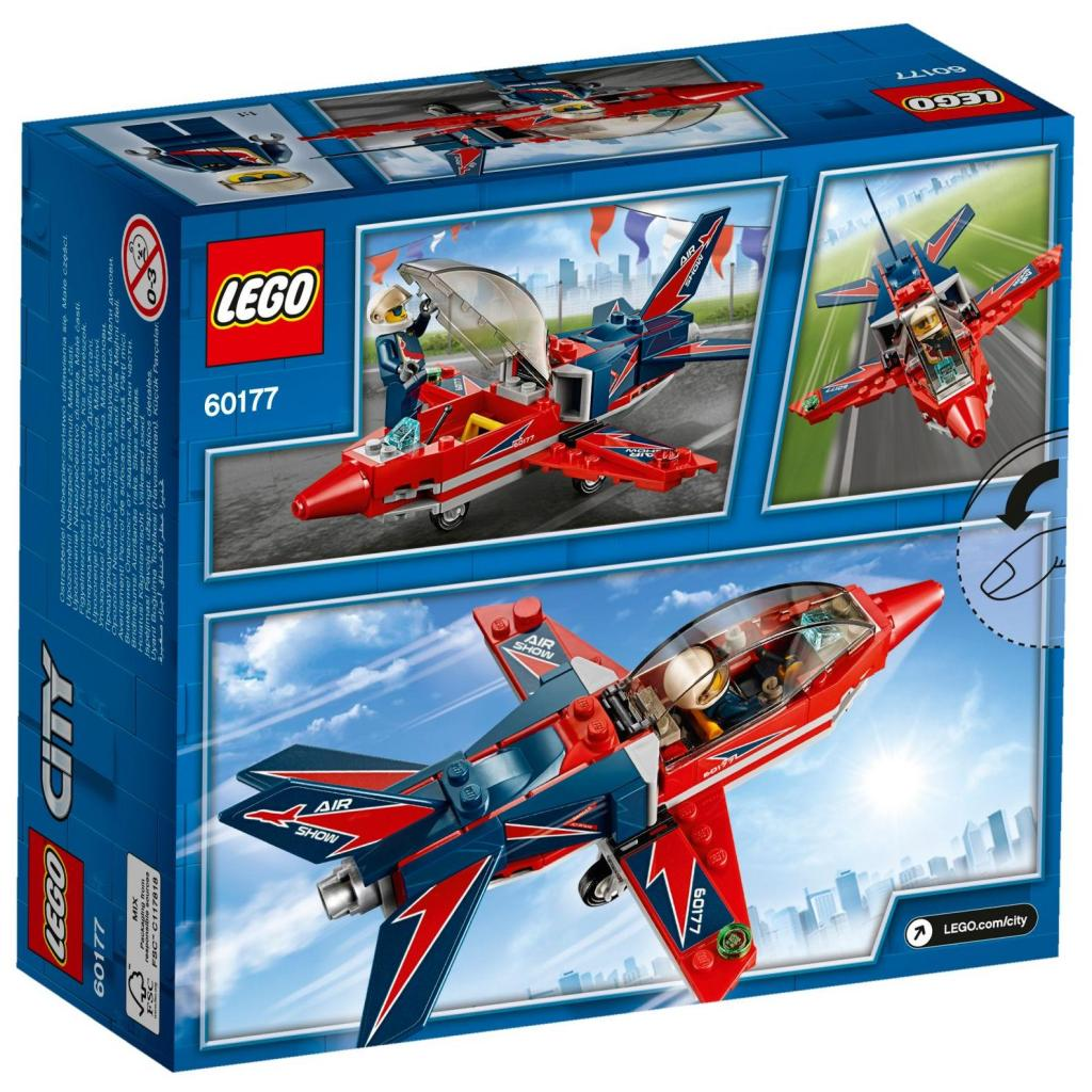 Конструктор LEGO City Airport Самолет на аэрошоу (60177) изображение 6