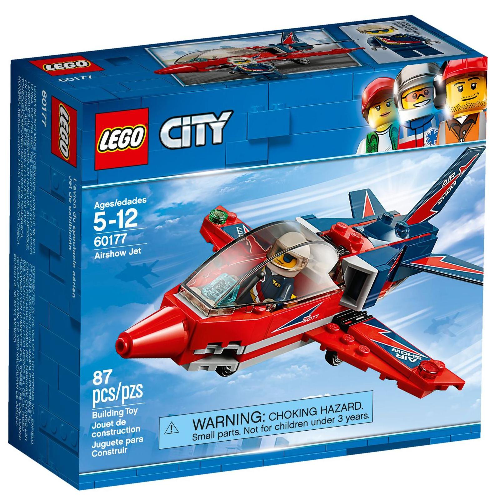 Конструктор LEGO City Airport Самолет на аэрошоу (60177)