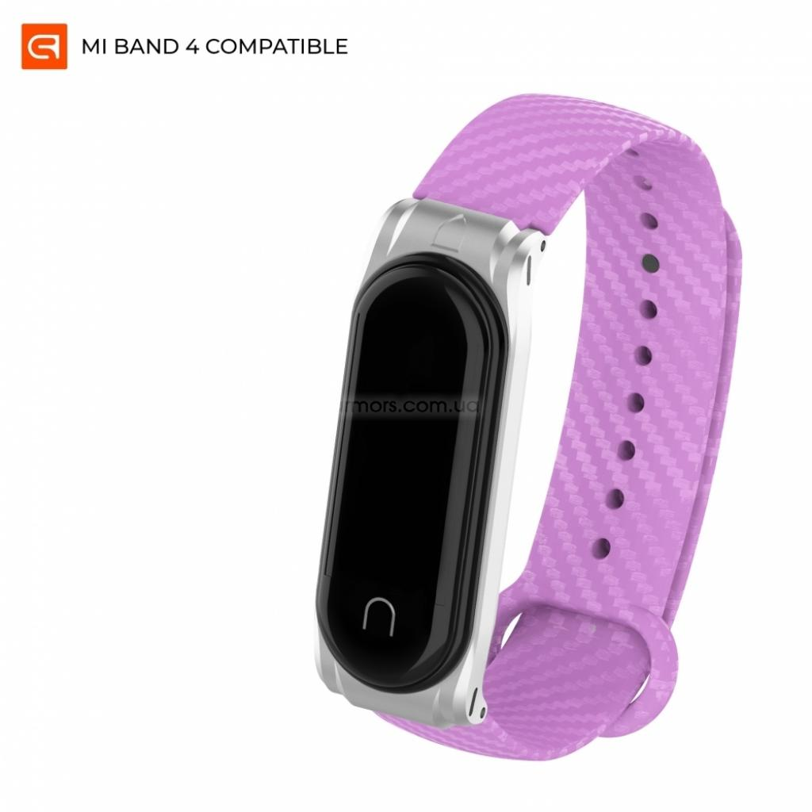 Ремешок для фитнес браслета Armorstandart Carbon Silicone Series для Xiaomi Mi Band 4/3 Purple (ARM55189)