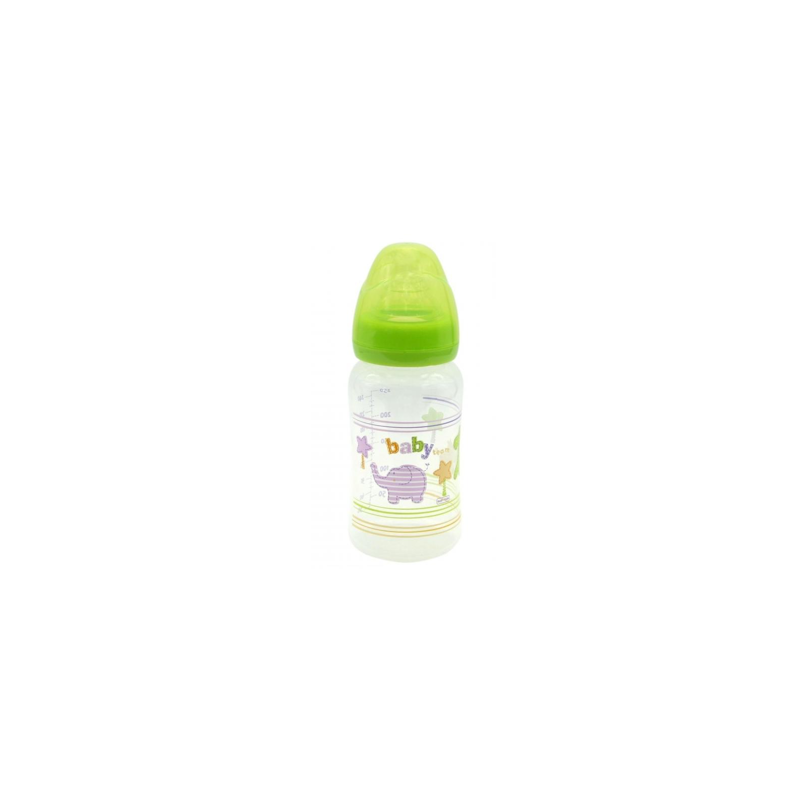 Бутылочка для кормления Baby Team c широким горлом, 250мл 6+ (1002_желтый)