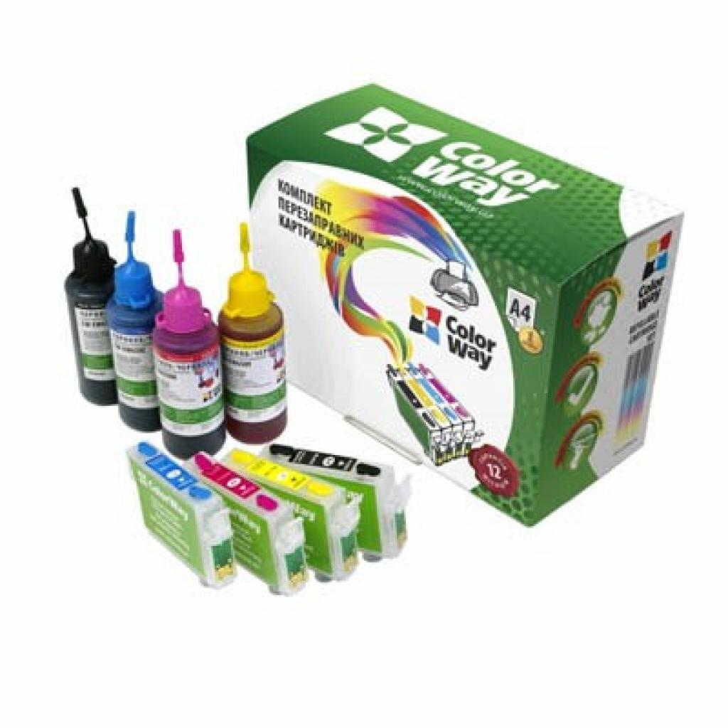 Комплект перезаправляемых картриджей ColorWay Epson XP33/103/203/207/303/306/406 (XP103RC-0.0)