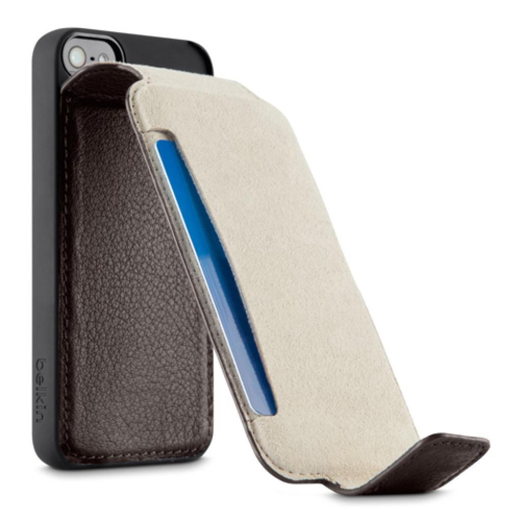 Чехол для моб. телефона Belkin iPhone 5/5s Leather Snap Folio/BROWN (F8W235vfC00) изображение 4