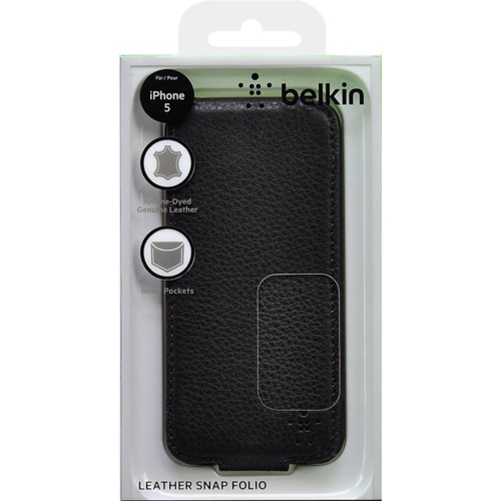 Чехол для моб. телефона Belkin iPhone 5/5s Leather Snap Folio/BROWN (F8W235vfC00) изображение 5