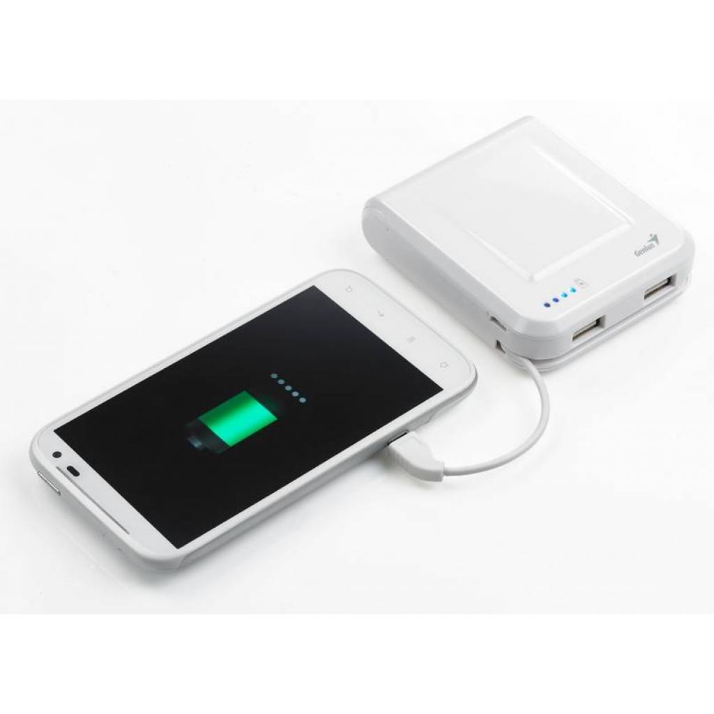 Батарея универсальная Genius ECO-U700 7800 mAh White (39800002102) изображение 5
