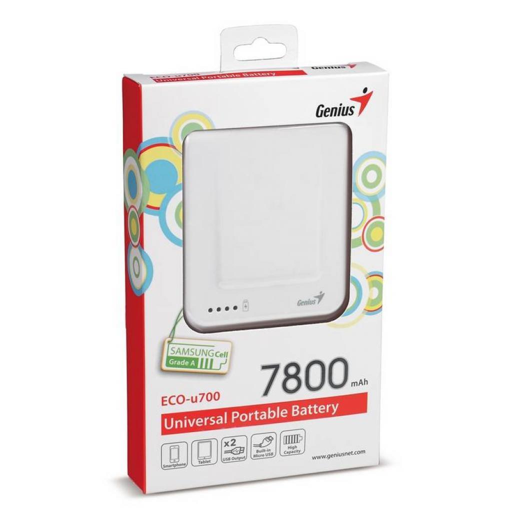 Батарея универсальная Genius ECO-U700 7800 mAh White (39800002102) изображение 8