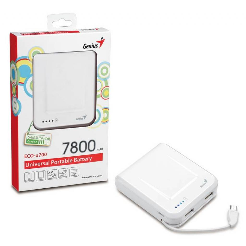Батарея универсальная Genius ECO-U700 7800 mAh White (39800002102) изображение 9