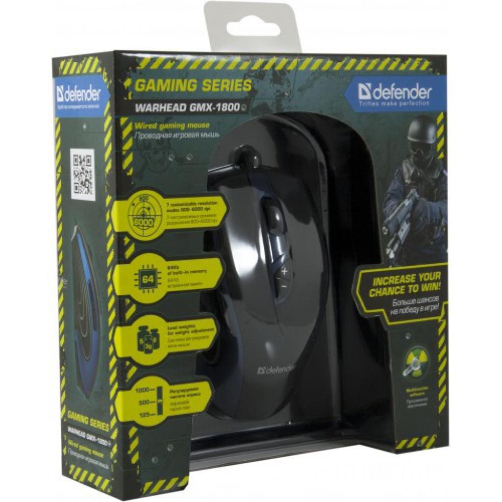 Мышка Defender Warhead GMX-1800 (52724) изображение 4