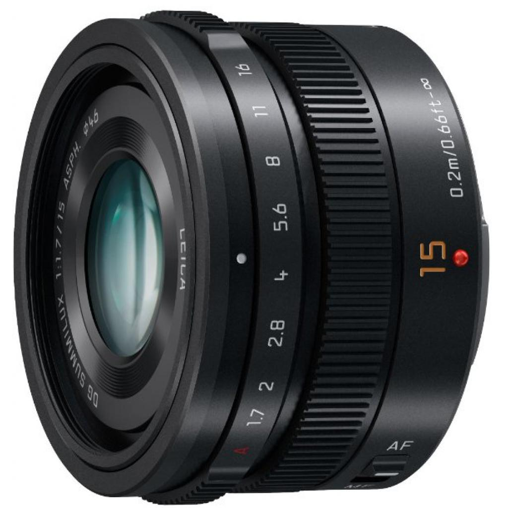 Объектив PANASONIC Lumix G 15mm f/1.7 Leica Black (H-X015E-K) изображение 2