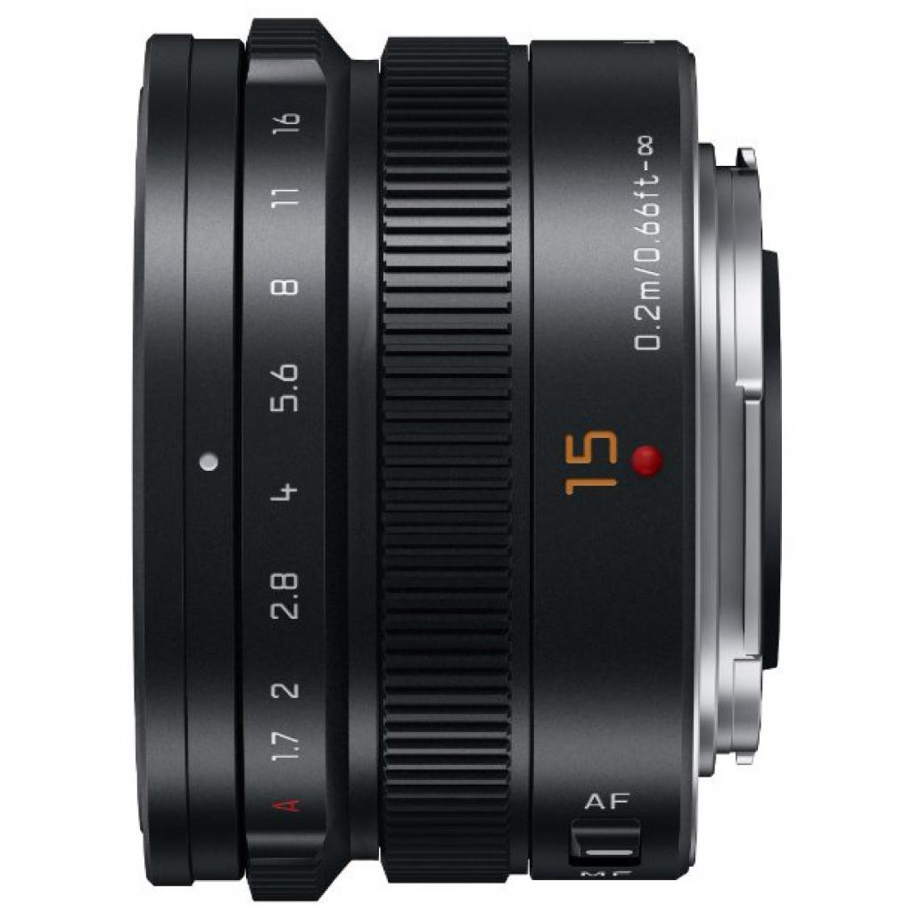 Объектив PANASONIC Lumix G 15mm f/1.7 Leica Black (H-X015E-K) изображение 3