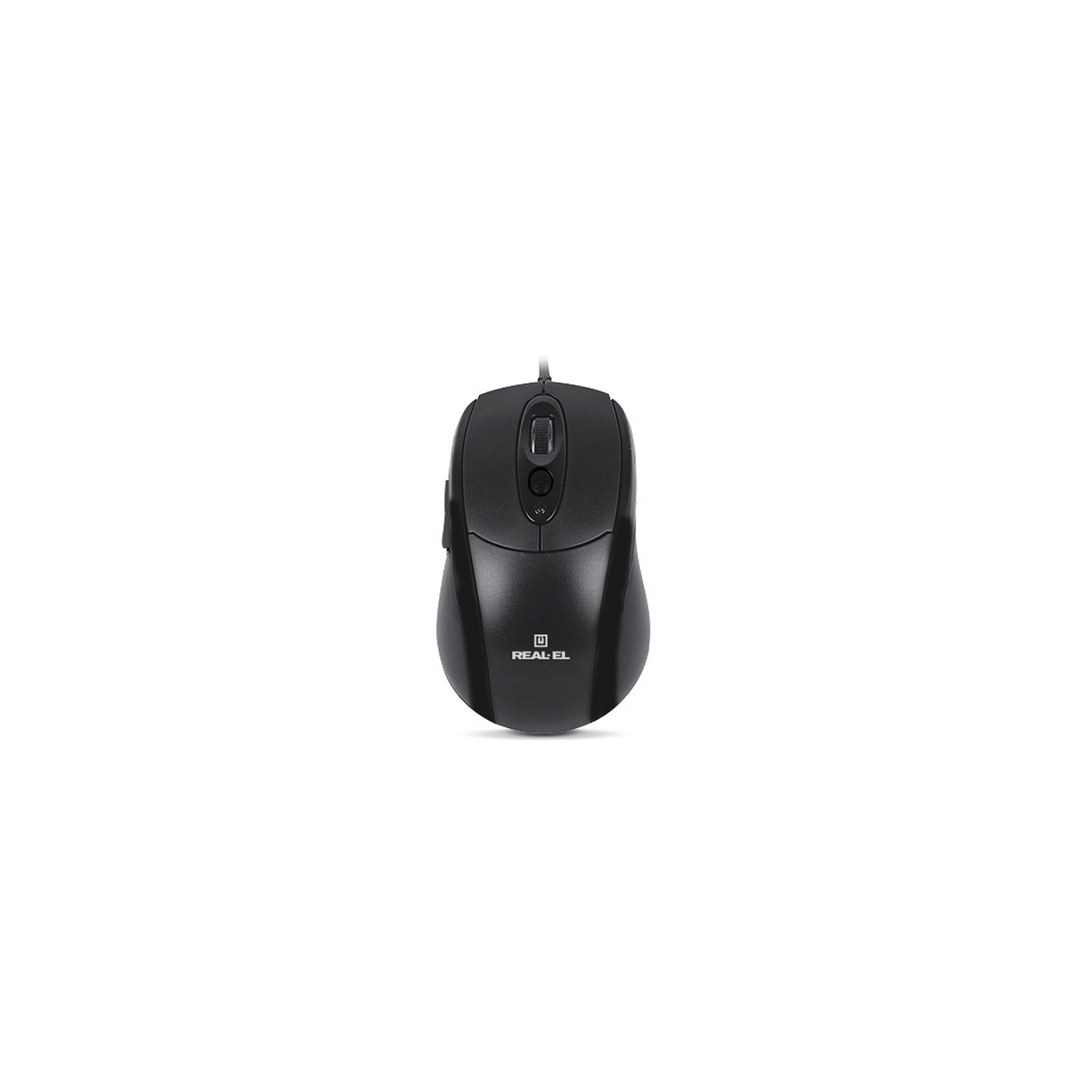 Мышка REAL-EL RM-290, USB, black изображение 2