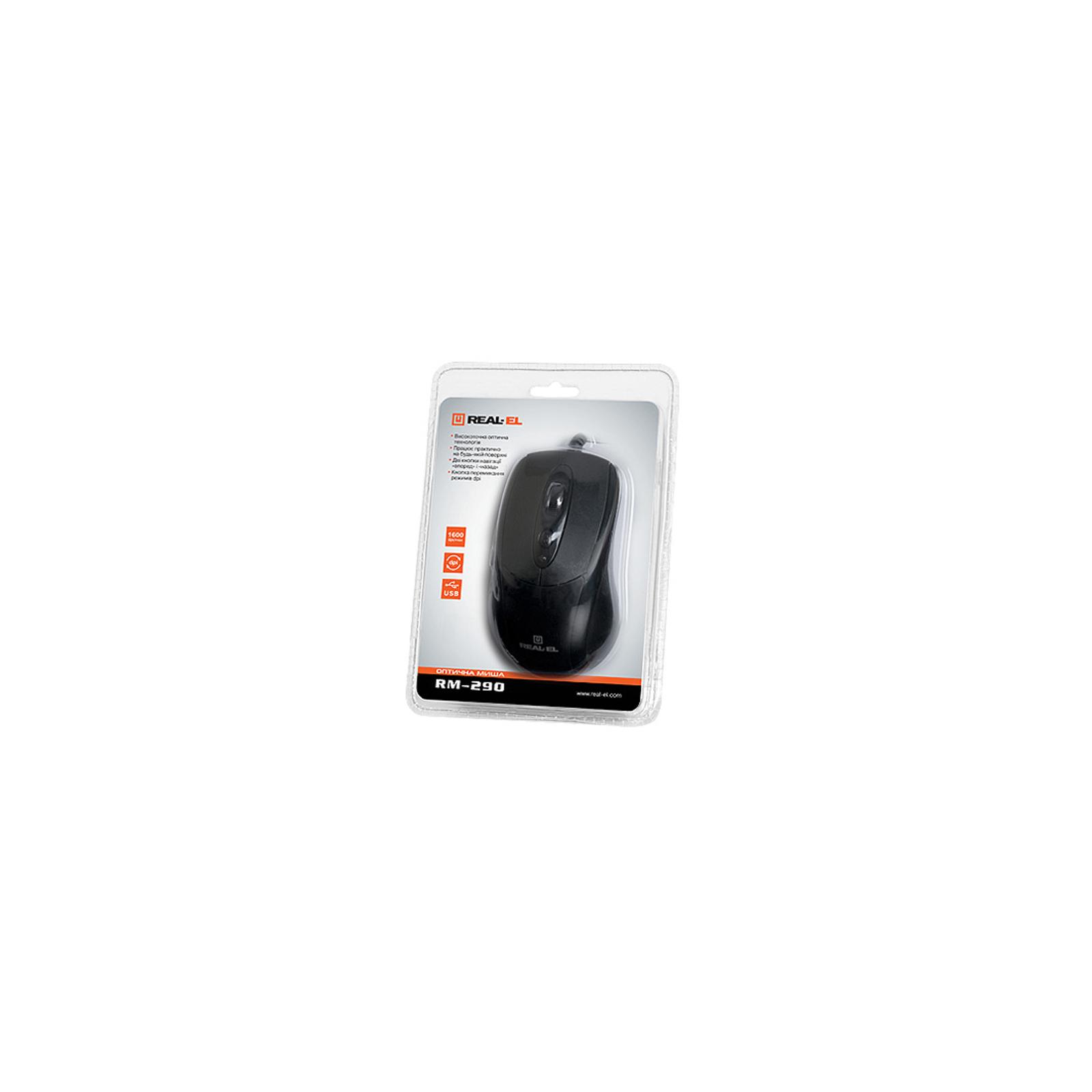 Мышка REAL-EL RM-290, USB, black изображение 4