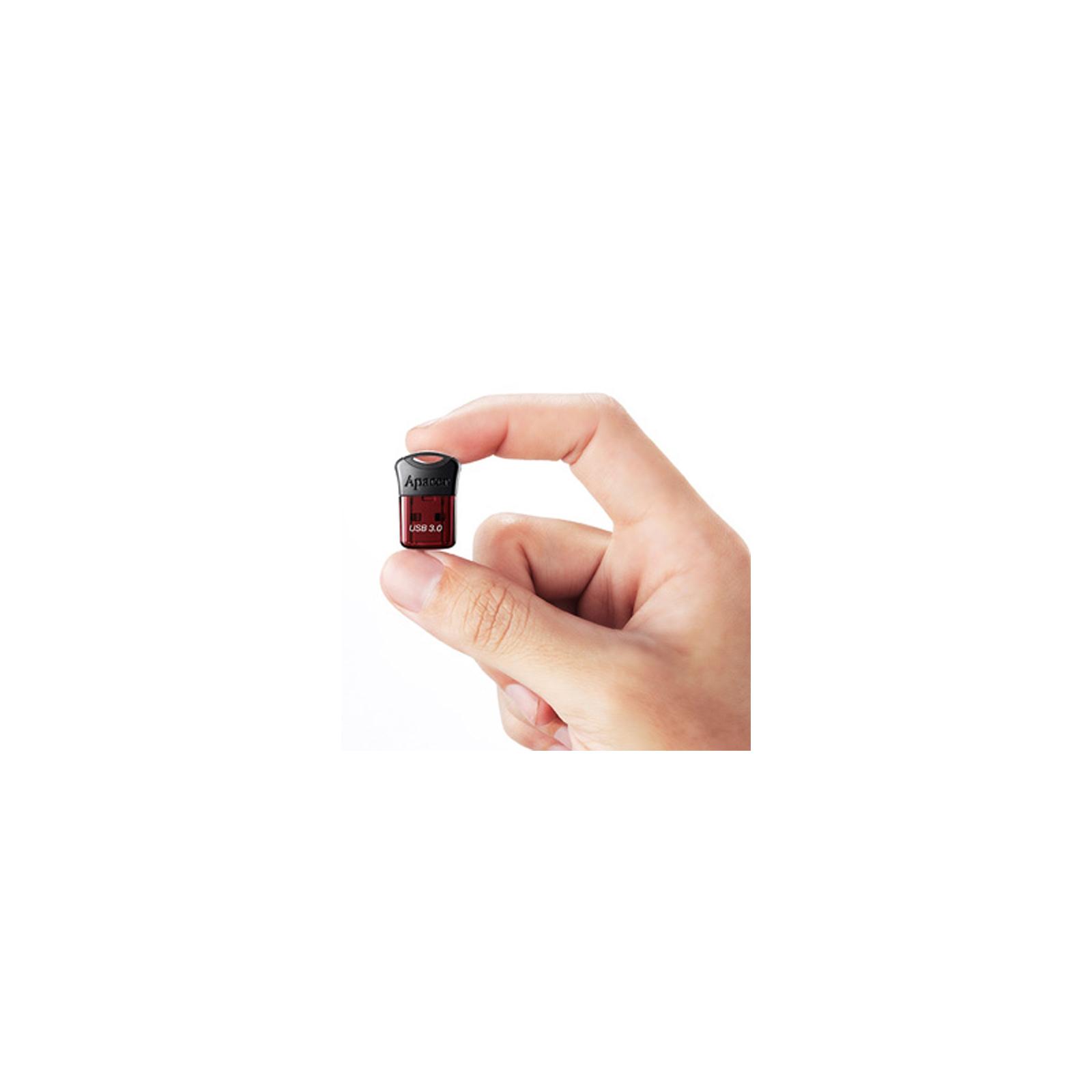 USB флеш накопитель Apacer 8GB AH157 Red USB 3.0 (AP8GAH157R-1) изображение 6